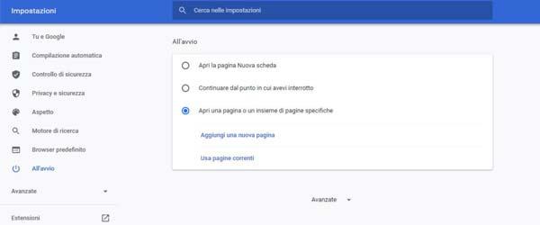 google-come-pagina-iniziale-su-chrome