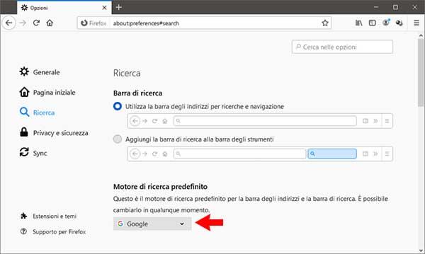 cambiare-motore-di-ricerca-predefinito-di-Firefox